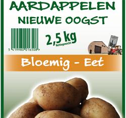 Aardappel nieuwe oogst bloemig