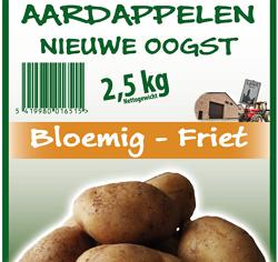 Aardappel nieuwe oogst Friet